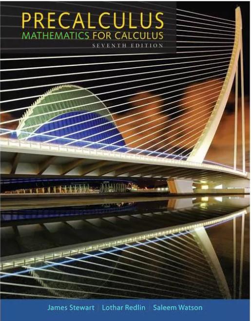 Precalculus Mathematics For Calculus 7 Edition Stewart, Redlin, Watson in pdf