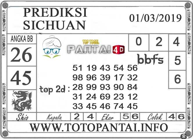 """Prediksi Togel """"SICHUAN"""" PANTAI4D 01 MARET 2019"""