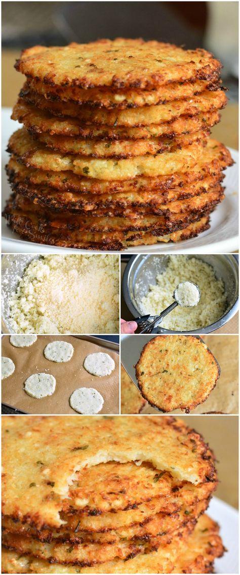 Cauliflower Parmesan Crisps
