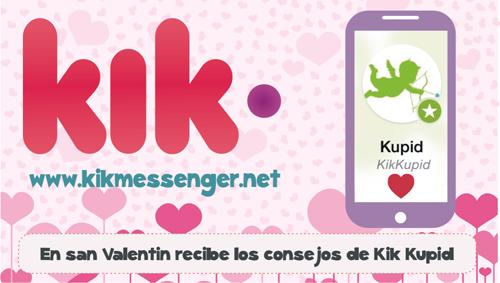 En san Valentin recibe los consejos de Kik Kupid