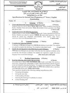 مواصفات الورقة الامتحانية لمادة اللغة الانجليزية 2020 كل الصفوف من خلال موقع مستشار اللغة الانجليزية
