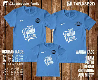 kaos keluarga my family my team