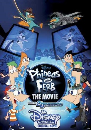 Phineas and Ferb the Movie: Across the 2nd Dimension 2011 BRRip 480p Dual Audio 300Mb