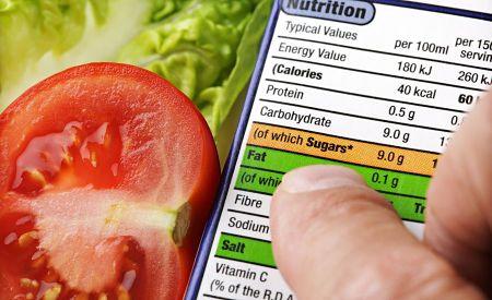 Ler os rótulos dos alimentos da dieta da zona