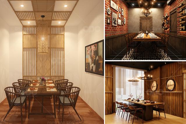 Trang trí phòng VIP nhà hàng theo nhiều phong cách khác nhau