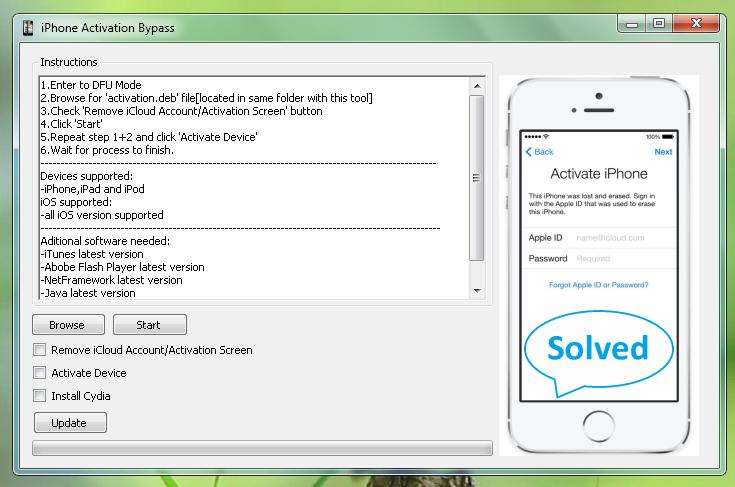 Download Bypass iCloud Activation tool zip for Windows & Mac