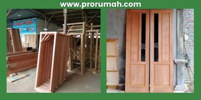 pemanfaatan kayu kempas - pembuatan kusen jendela & pintu