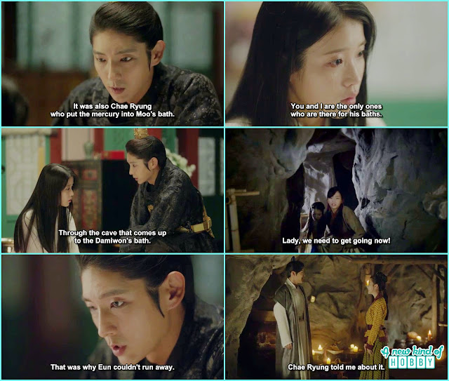 wang so told hae so about the laundery cave she told it about to wook thats why 10th prince can't leave the palace - Moon Lovers Scarlet Heart Ryeo - Episode 18 (Eng Sub)