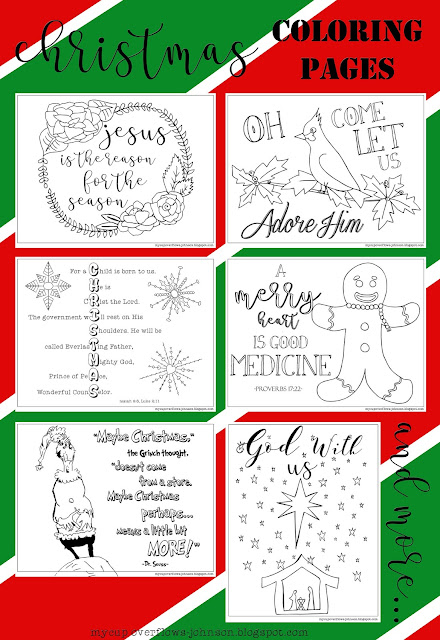 free Christmas coloring pages with Bible verses