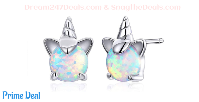 Hypoallergenic Opal Unicorn Stud Earrings 50%OFF