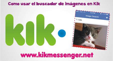 Como usar el buscador de imagenes en Kik Messenger