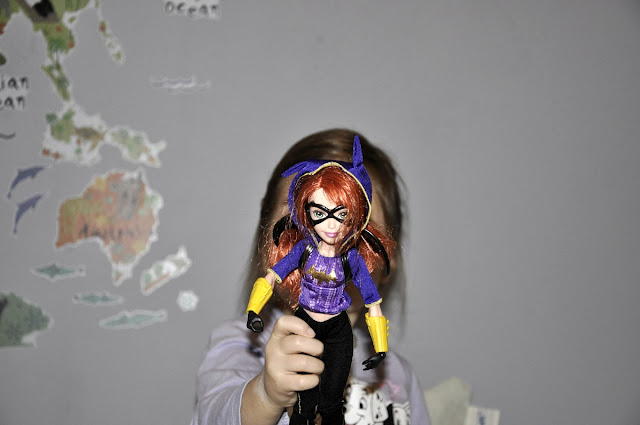 dc super hero girls, batgirl, poison ivy, mattel, warner bross