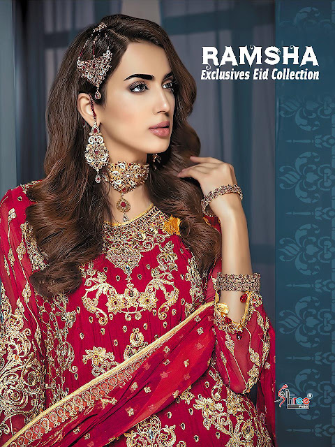 Shree Fab Ramsha Pakistani Suits Special Eid Collection 2019