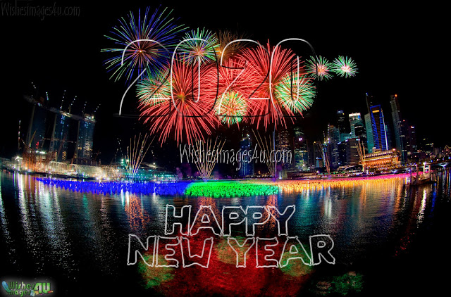 Happy New year 2020 Fireworks HD Background Wallpapers Download Free