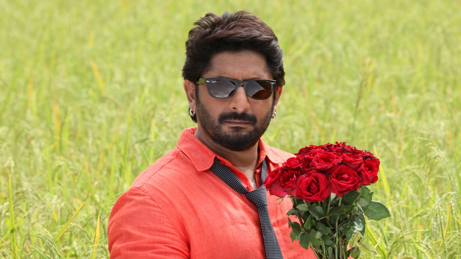 Arshad Warsi with Flowers