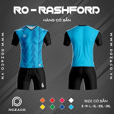 Áo Không Logo Rozaco RO-RASHFORD Màu Xanh Ya