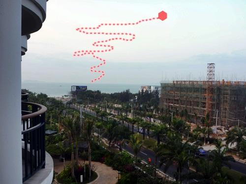 ゆらゆらと不規則な軌道で動く海南島の不可思議な光体