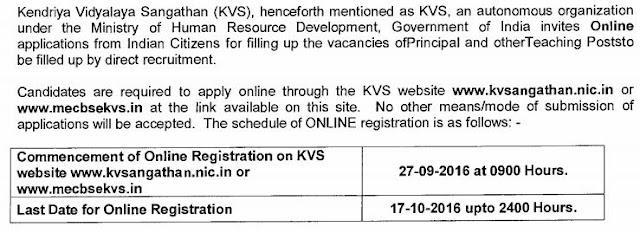 KV : Recruitment 2016