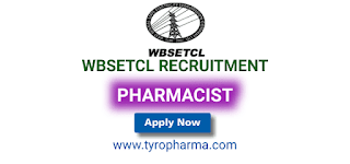 wbsetcl recruitment 2019, wbsetcl recruitment, wbsetcl latest job, wbsetcl pharmacist job, vacancies, d.pharm, pharmacist job, west bengal state electricity transmission company ltd