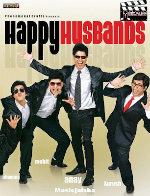 Poster Of Bollywood Movie Happy Husbands (2011) 300MB Compressed Small Size Pc Movie Free Download worldfree4u.com