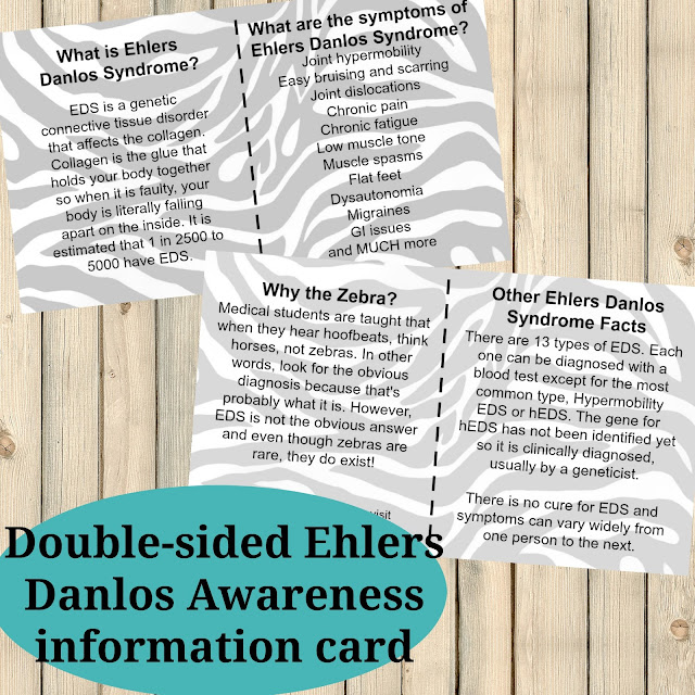 Ehlers Danlos Syndrome EDS Awareness Cards