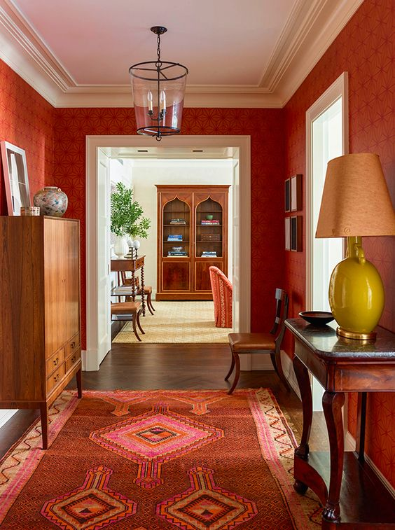perfect red interior design for your home