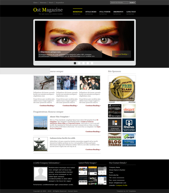 free blogger templates with slider - ost magazine template blogger templates 2013