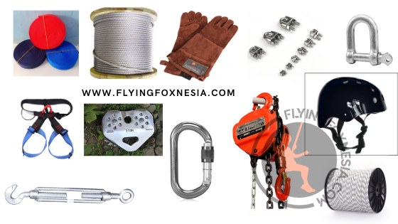 Peralatan Pemasangan Flying Fox