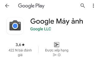 Đánh giá Google Camera trên Google Play