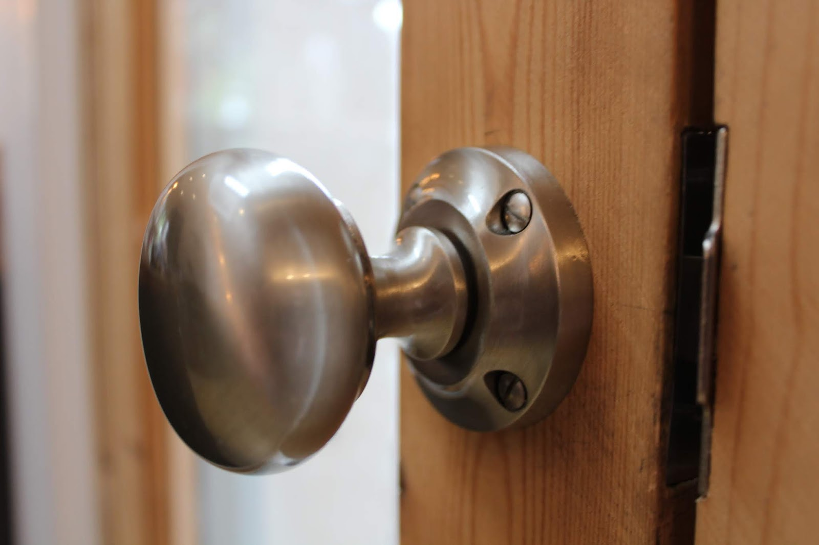 Satin Nickel Door Knobs on Door