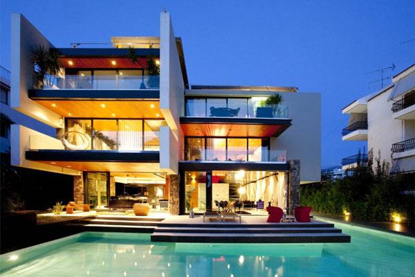 Diseno De Residencia Casa Moderna En Grecia Dise O De