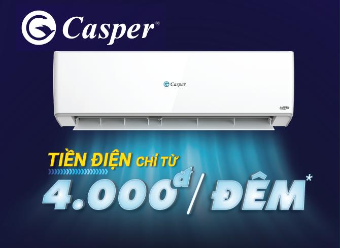 Điều hòa Casper 9000 BTU 1 Chiều Giá Rẻ tại Hà Nội | điều hòa Casper giá bao nhiêu ?