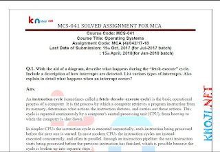 MCS-041 SOLVED ASSIGNMENT 2017-18 FOR IGNOU MCA 4TH SEMESTER