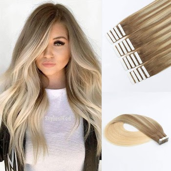40% off Human Hair Blonde Highlights Tape-in Extensions