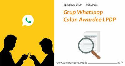 Grup Whatsapp calon awardee lpdp