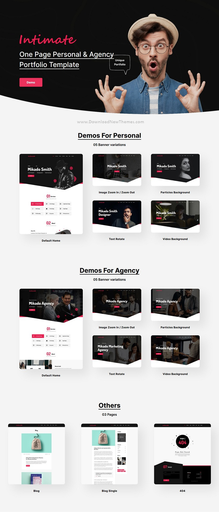 One Page Personal & Agency Portfolio Template
