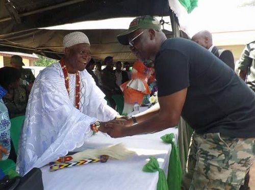 Action Governor, Ayo Fayose Stylishly Steps Out in Military Outfit (Photos)