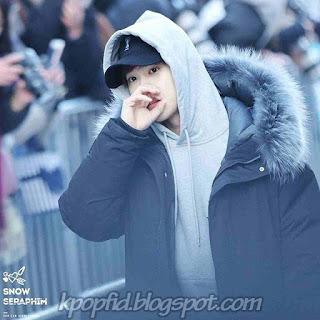 Foto Cute Suho EXO Memakai Jaket