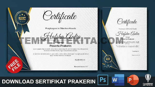 Download Contoh Sertifikat Prakerin Gratis Berbagai Format Part 1