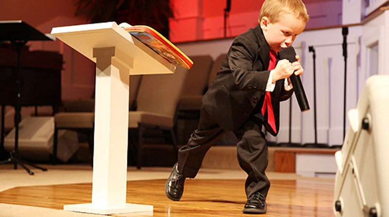 Erros que os pregadores mirins devem evitar.