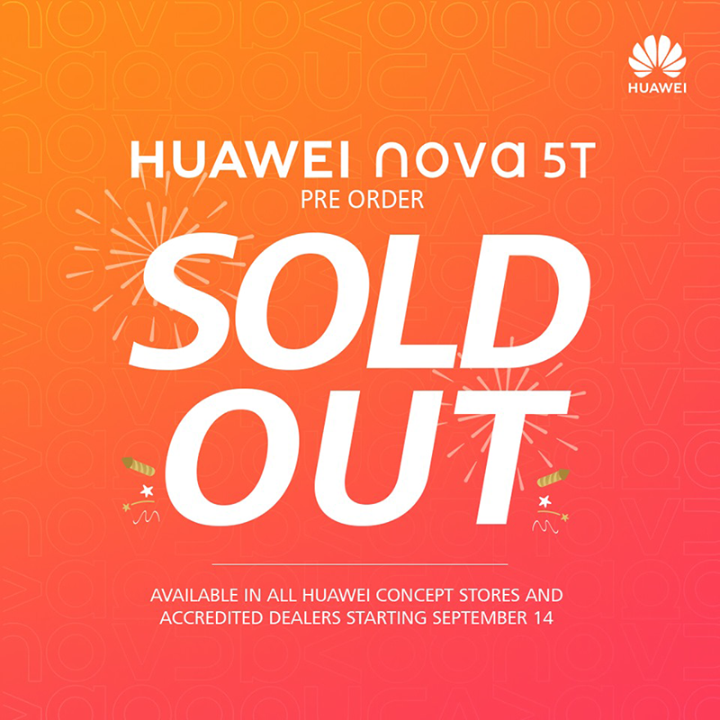 Huawei Nova 5T has sold out in the Philippines!