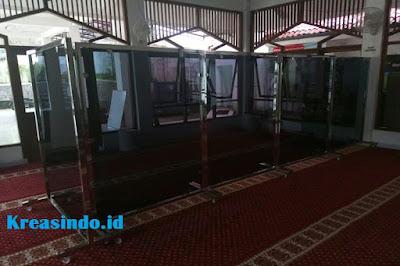 Jasa Hijab Masjid Stainless dan Akrilik di Jabodetabek dan sekitarnya