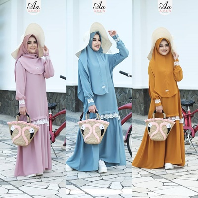 Gamis Aden Set Terbaru Halwa Dress