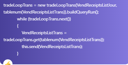 How to TransLoopTrans from data header in Axapta 4.0 , 2012 & D365