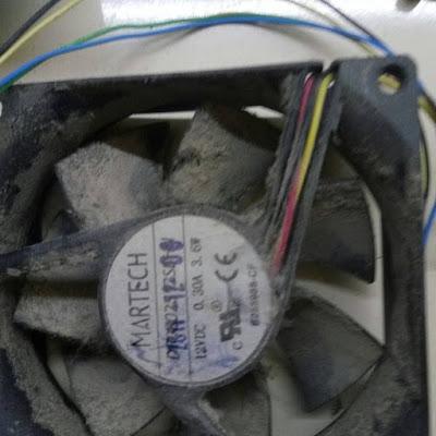 kirlenmiş bir fan