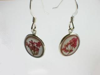 Sterling silver earrings for real flowers