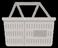 買い物かごのイラスト(白)