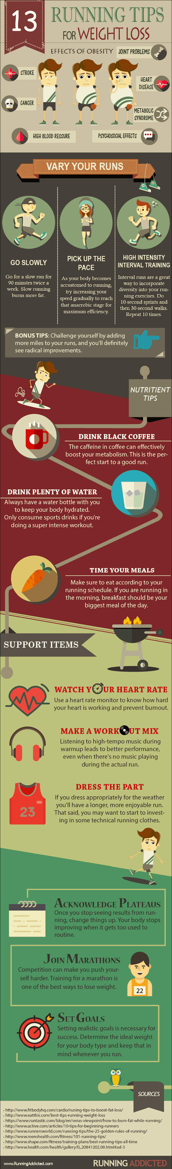 13 Running Tips For Weight Loss #infographic
