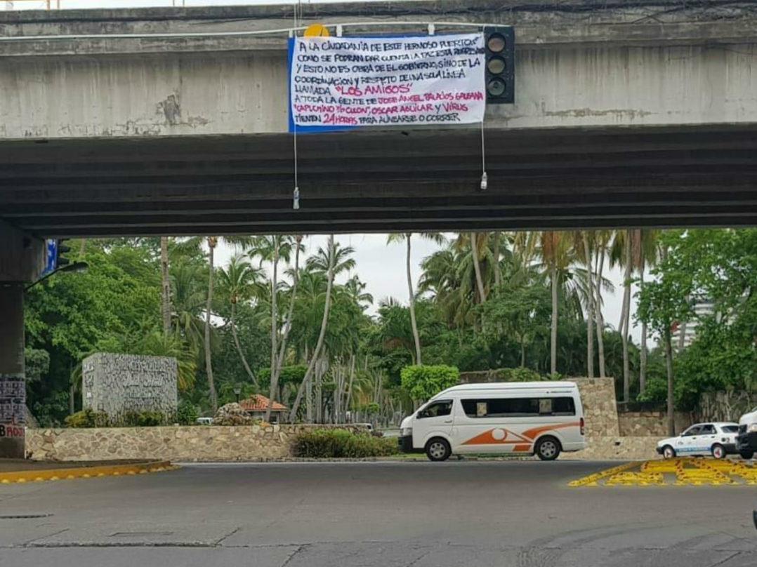 Con narcomantas, sicarios anuncia una alianza delincuencial en Acapulco