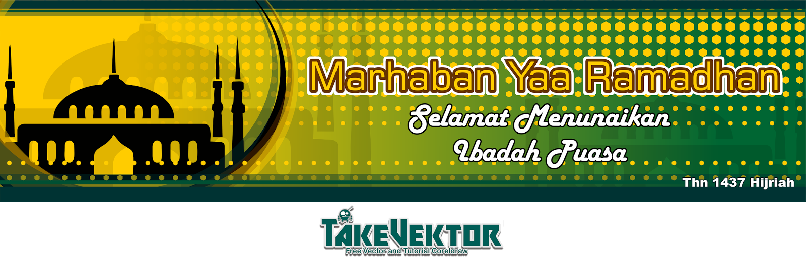 Free Background Banner Menyambut Ramadhan Thn Hijriah